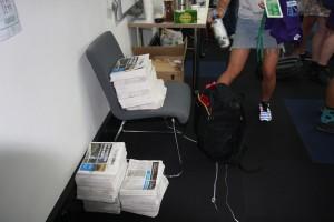 000004 Parkville Station stacks awaiting distribution